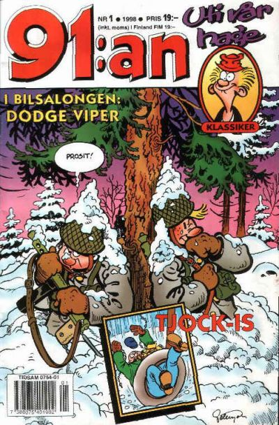 Cover for 91:an (Egmont, 1997 series) #1/1998