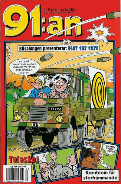 Cover for 91:an (Egmont, 1997 series) #3/2001