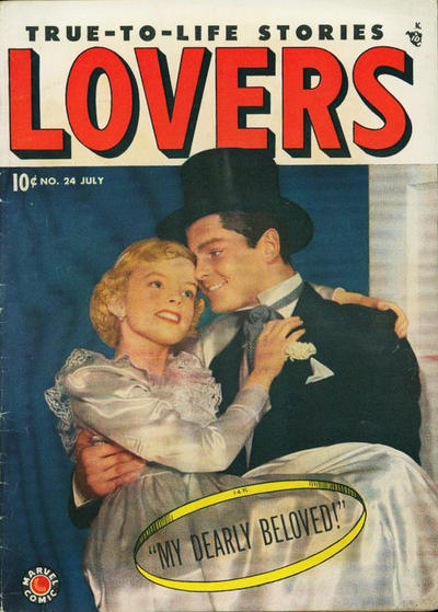 Cover for Lovers (Marvel, 1949 series) #24