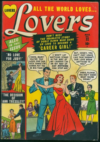 Cover for Lovers (Marvel, 1949 series) #32