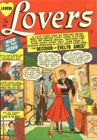 Cover for Lovers (Marvel, 1949 series) #34