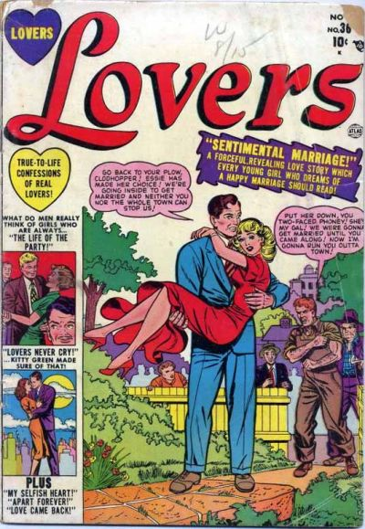 Cover for Lovers (Marvel, 1949 series) #36