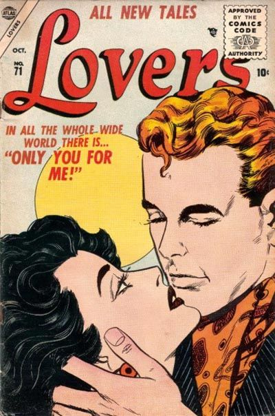 Cover for Lovers (Marvel, 1949 series) #71