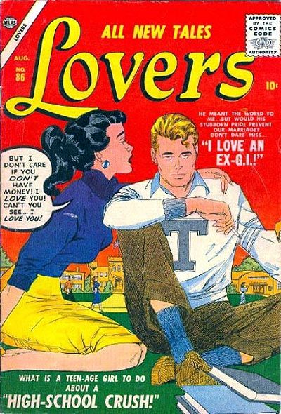 Cover for Lovers (Marvel, 1949 series) #86