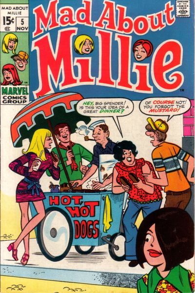 Cover for Mad About Millie (Marvel, 1969 series) #5