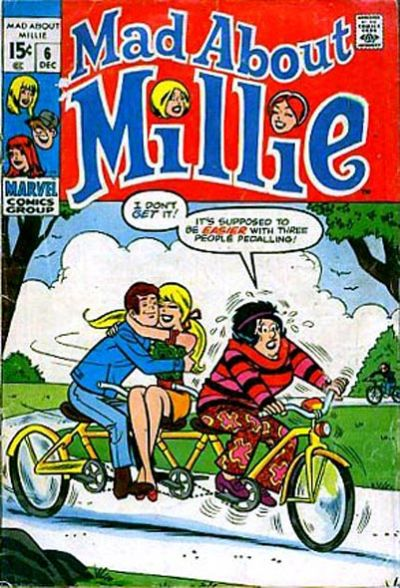 Cover for Mad About Millie (Marvel, 1969 series) #6
