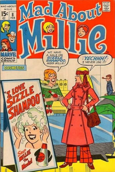 Cover for Mad About Millie (Marvel, 1969 series) #8