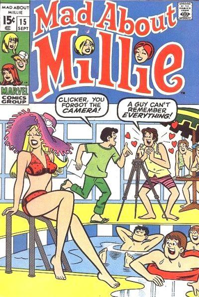 Cover for Mad About Millie (Marvel, 1969 series) #15