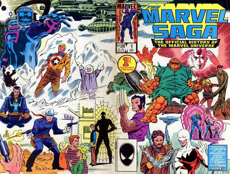 Cover for The Marvel Saga the Official History of the Marvel Universe (Marvel, 1985 series) #1 [Newsstand Edition]