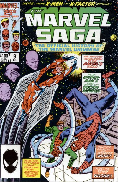 Cover for The Marvel Saga the Official History of the Marvel Universe (Marvel, 1985 series) #9 [Direct Edition]