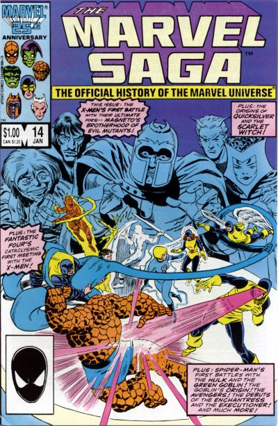 Cover for The Marvel Saga the Official History of the Marvel Universe (Marvel, 1985 series) #14 [Direct Edition]