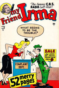Cover Thumbnail for My Friend Irma (Marvel, 1950 series) #9