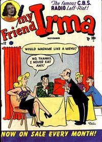 Cover Thumbnail for My Friend Irma (Marvel, 1950 series) #12