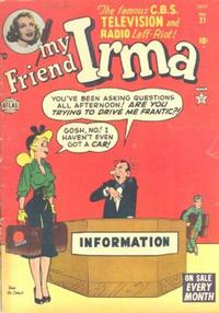 Cover Thumbnail for My Friend Irma (Marvel, 1950 series) #21
