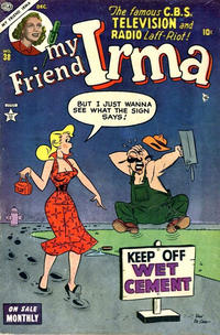 Cover Thumbnail for My Friend Irma (Marvel, 1950 series) #38