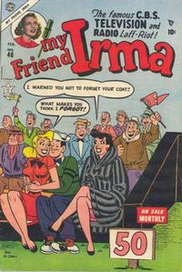 Cover Thumbnail for My Friend Irma (Marvel, 1950 series) #40