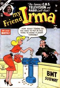 Cover Thumbnail for My Friend Irma (Marvel, 1950 series) #45
