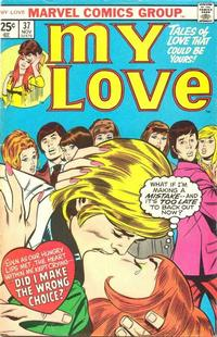 Cover Thumbnail for My Love (Marvel, 1969 series) #37