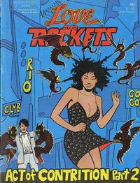 Cover for Love and Rockets (Fantagraphics, 1982 series) #6