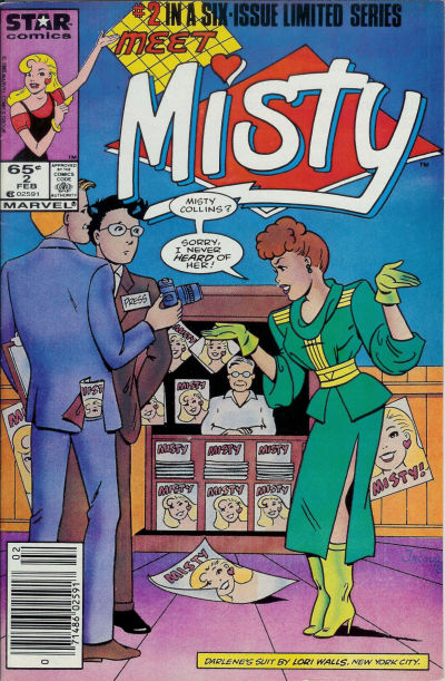 Cover for Misty (Marvel, 1985 series) #2 [Direct]