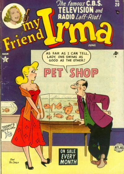 Cover for My Friend Irma (Marvel, 1950 series) #20