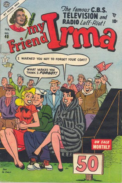 Cover for My Friend Irma (Marvel, 1950 series) #40