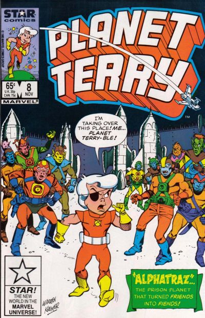 Cover for Planet Terry (Marvel, 1985 series) #8 [Direct]
