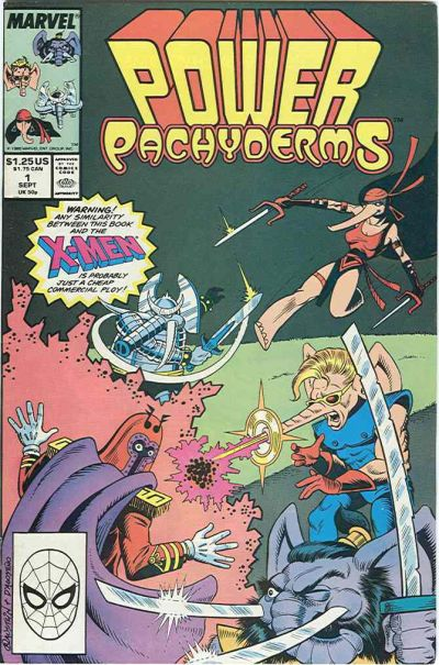 Cover for Power Pachyderms (Marvel, 1989 series) #1