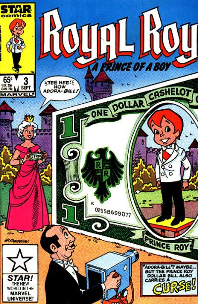Cover for Royal Roy (Marvel, 1985 series) #3 [Canadian]