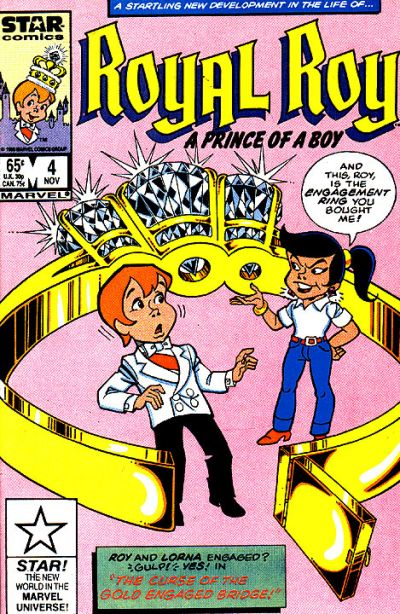 Cover for Royal Roy (Marvel, 1985 series) #4 [Newsstand]