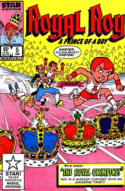 Cover for Royal Roy (Marvel, 1985 series) #5 [Direct]