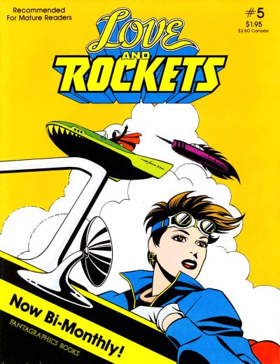Cover for Love and Rockets (Fantagraphics, 1982 series) #5