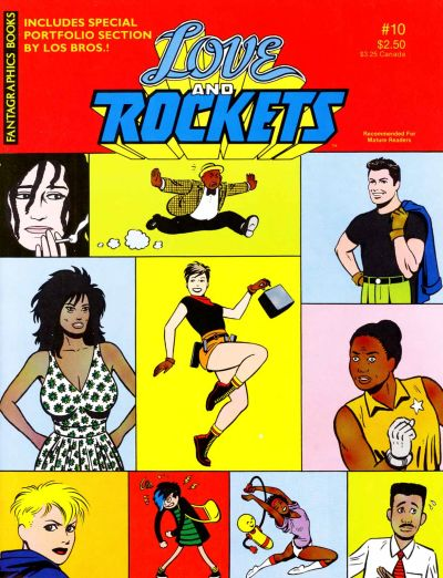 Cover for Love and Rockets (Fantagraphics, 1982 series) #10 [Second Printing]