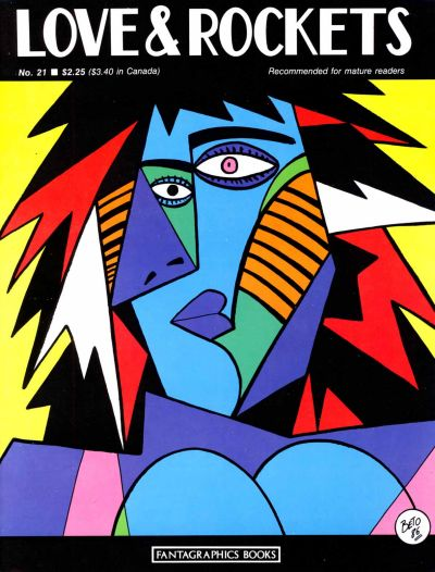 Cover for Love and Rockets (Fantagraphics, 1982 series) #21