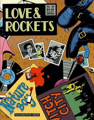Cover for Love and Rockets (Fantagraphics, 1982 series) #30 [First Printing]