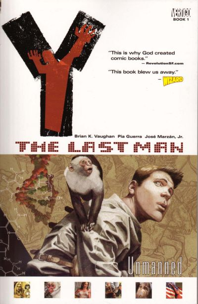 Cover for Y: The Last Man (DC, 2003 series) #1 - Unmanned [First Print]