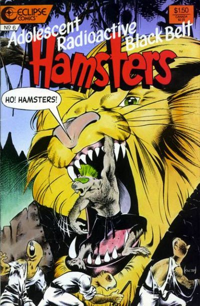 Cover for Adolescent Radioactive Black Belt Hamsters (Eclipse, 1986 series) #6