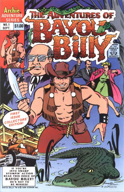 Cover for The Adventures of Bayou Billy (Archie, 1989 series) #1 [Direct]