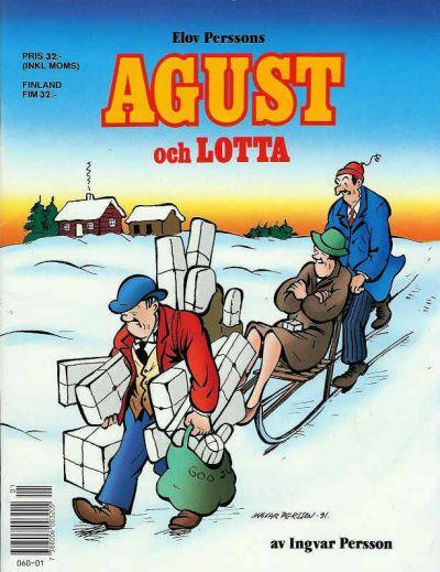 Cover for Agust och Lotta [julalbum] (Semic, 1988 series) #[1991]