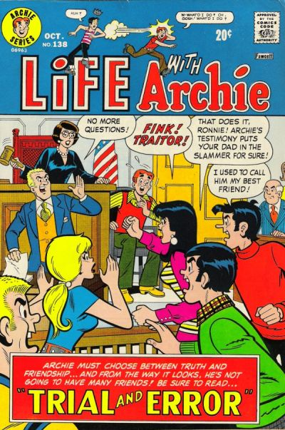 Cover for Life with Archie (Archie, 1958 series) #138