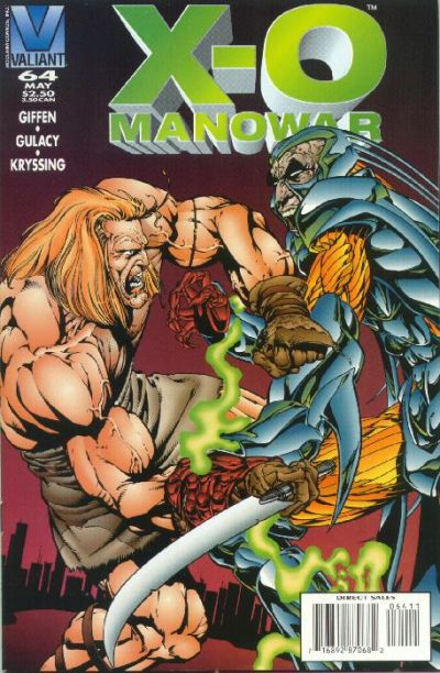 Cover for X-O Manowar (Acclaim / Valiant, 1992 series) #64