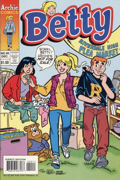 Cover for Betty (Archie, 1992 series) #20