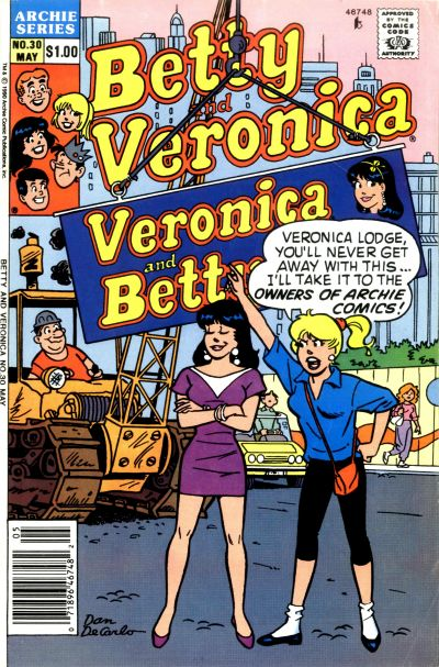 Cover for Betty and Veronica (Archie, 1987 series) #30 [Direct]