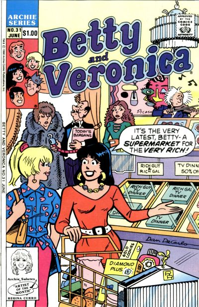Cover for Betty and Veronica (Archie, 1987 series) #31 [Direct]