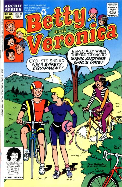 Cover for Betty and Veronica (Archie, 1987 series) #45 [Newsstand]