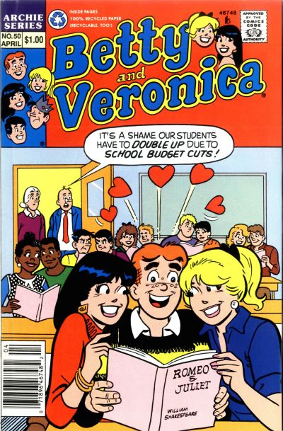 Cover for Betty and Veronica (Archie, 1987 series) #50