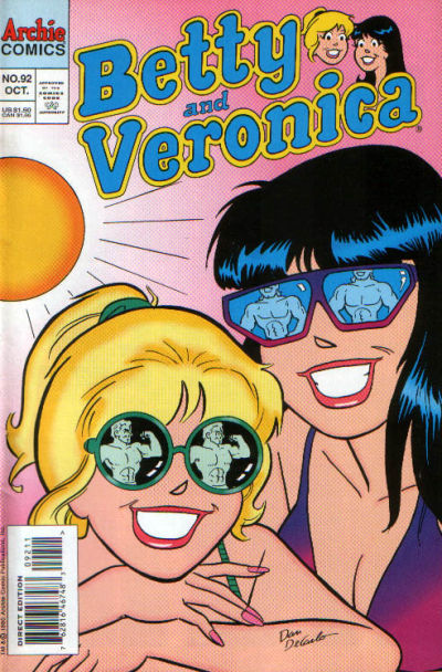 Cover for Betty and Veronica (Archie, 1987 series) #92 [Direct Edition]
