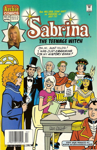 Cover for Sabrina the Teenage Witch (Archie, 1997 series) #24 [Newsstand]