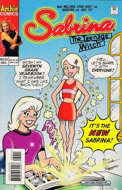 Cover for Sabrina the Teenage Witch (Archie, 1997 series) #32 [Direct Edition]