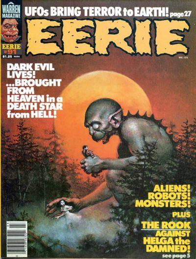 Cover for Eerie (Warren, 1966 series) #91
